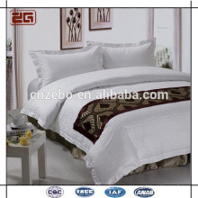 Five Star hotel 100% textile polyester bed scarf