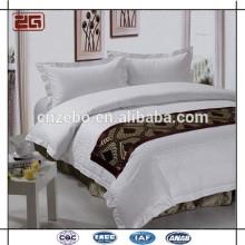 Cinco Estrelas hotel 100% textil lenço cama de poliéster