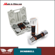 10lbs/20lbs New Chrome Adjustable Electroplate Dumbbell Set