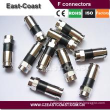RG6 Compression f brass connector