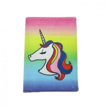 COLORFUL UNICORN CLOTH COVER NOTEBOOK-0
