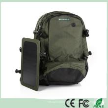 Verde solar al aire libre Mochila Solar cargador bolsa de la espalda con el panel solar desmontable para teléfonos celulares / 5V dispositivos (SB-168)