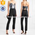 Lurex sans bretelles et Crêpe Jumpsuit Fabrication En Gros Mode Femmes Vêtements (TA3001J)