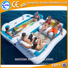 2016 New Design Pool Floating Inflatable Island, Durable Water Float Island