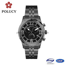 Chronograph Black Stainless Steel Men′s Watches