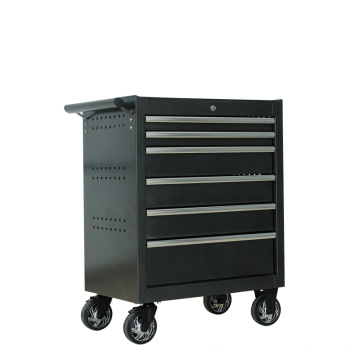 Black Metal Tool Box Roller Box