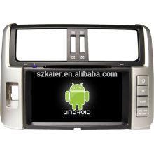 Fábrica directa! Android gps reproductor de DVD del coche para 2012 corolla Prado + Android 4.1 + doble núcleo + pantalla táctil capacitiva + OEM