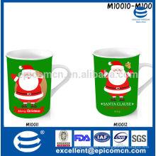 Кухня & обедая новая косточка фарфора яркая красная и зеленая кружка кофе фарфора 300-330ml для рождества