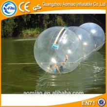 Inflável água caminhando bola aluguel / pé água bola piscina / água válvula de esfera