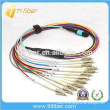 MPO-LC 12 Cordón de remiendo, MM, 0.9mm OD cable