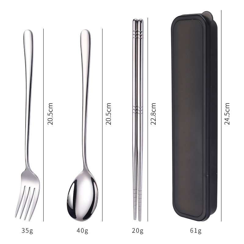Korean Spoon And Fork Set In A Case