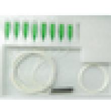 Répartiteur SC APC plc, broyeur à fibres optiques plc miniature de 0,9 mm, séparateur de fibres optiques 1 * 8 1 * 16