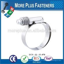 Fabriqué en acier inoxydable en acier inoxydable type de type bras de serrage des pinces de serrage des colliers de serrage