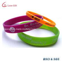 Печатные силиконовый браслет для промо-подарок