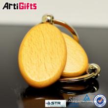 Promotion cheap fashion wooden key chain