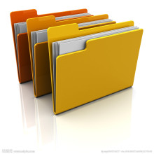 ПП / бумага А4 пакеты документов с зажимом