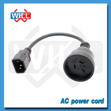 SAA 3 pin Australia standard male female ac power cord plug