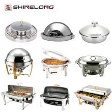 Professionelle Edelstahl Hotel Chafing Dish Catering Material Stahl Buffet Set Ausrüstung Speisenwärmer Für Verkauf In Guangzhou