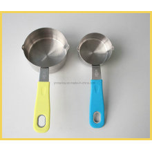 Stainless Steel Measuring Cup with Different Color Handle