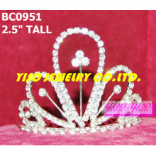 Coronas y tiaras cristalinas simples superventas encantadoras