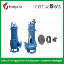 Pompe submersible centrifuge d'eaux usées sans obstruction