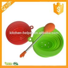 Non-stick não tóxico cozinha de silicone misturando servindo colher