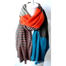 Acrylic Knitted Shawl (12-BR201812-10)