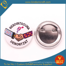 Emblema social do botão da lata da lembrança da interação em liga de zinco