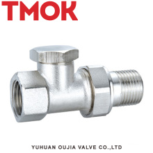 DN15 brass nickle plating internal thread thermostatic valve