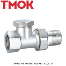 DN15 brass nickle plating internal thread thermostatic valve