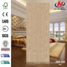 JHK-F01 3mm de gran tamaño de la naturaleza China Ash Flush piel de la puerta