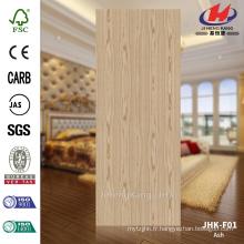 JHK-F01 3mm Grande taille Nature Chinois Ash Flush Door Skin