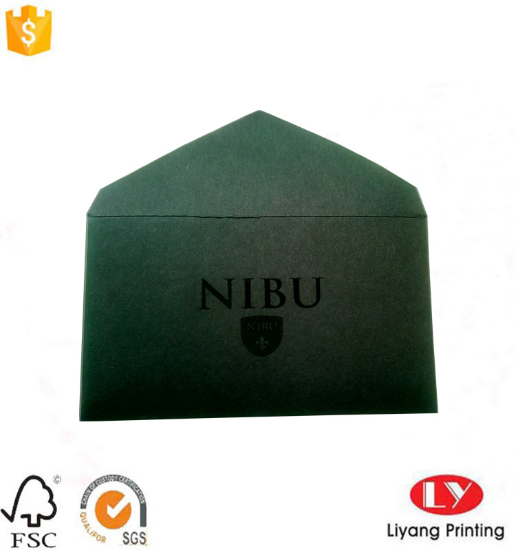 black card envelope