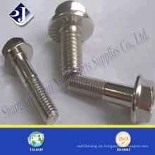 Perno de brida hexagonal de alta resistencia Ss 304/316