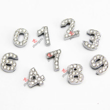 Crystal 10mm Slide Number Charms for DIY Jewelry