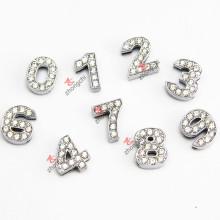Cristal 10 milímetros encantos número de slides para jóias DIY