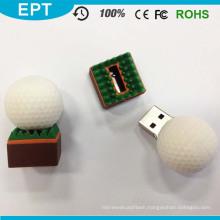 White Round Golf Ball Shape USB Flash Drive (EP012)
