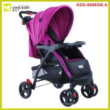 Carrinho de bebê seguro do bebê do aço inoxidável dobro