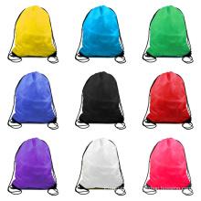 Wholesale Promotion recycled Polyester Drawstring Bags Waterproof Mini Nylon Drawstring Bag