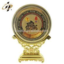 En gros en métal personnalisé plaque or logo en laiton fausses pièces d'or plaque souvenir