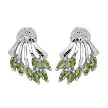 Bijoux fantaisie boucle d'oreille péridot (GE02197)