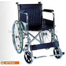 Standard chrome steel frame wheelchair size