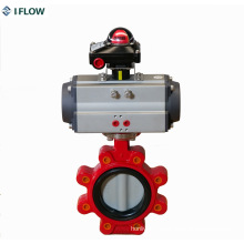 Lug Type Butterfly Valve Pneumatic Operated with Limit Switch