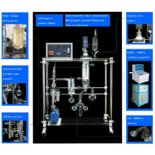 Top grade short path distillation system for crude oil fractional distillation