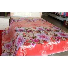 Soft Handfeeling 100% algodão impresso tecido de folha de cama por atacado