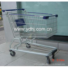 American Style Plastic Spraying Supermarket Shopping Trolly
