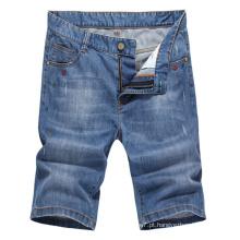 Calções curtos ocasionais da sarja de Nimes do short dos calções curtos de Jean dos homens do OEM