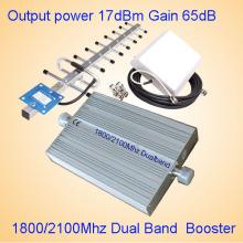 1800/2100 3G de doble banda de señal de teléfono de señal Booster / Repeater