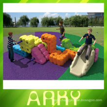 2014 Run the slide Outdoor Playing Toys of Plastic Toy Block