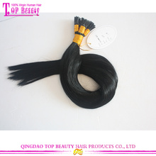 Hot new braizilian human hair extensions i tip straight hair extensions double drawn remy i tip hair extensions